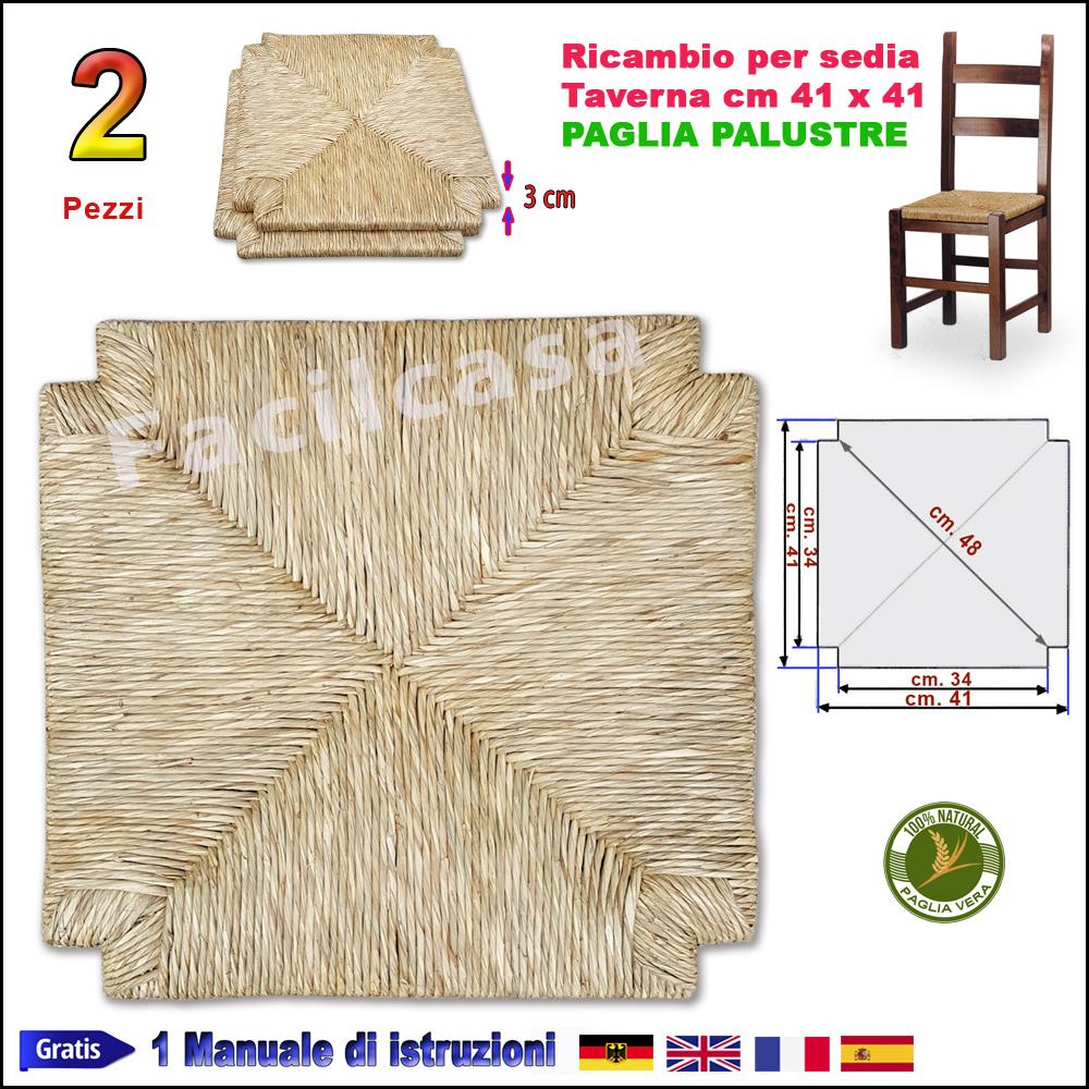 sedute per sedie pronte in paglia palustre 2 seduta in paglia di ricambio per sedia sedile. Black Bedroom Furniture Sets. Home Design Ideas