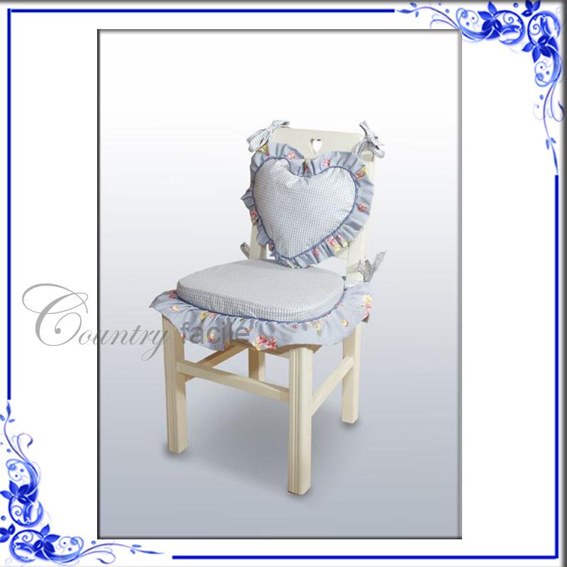 Cuscini per sedie cuscini per seduta e schienali sedie for Cuscini per sedie shabby chic