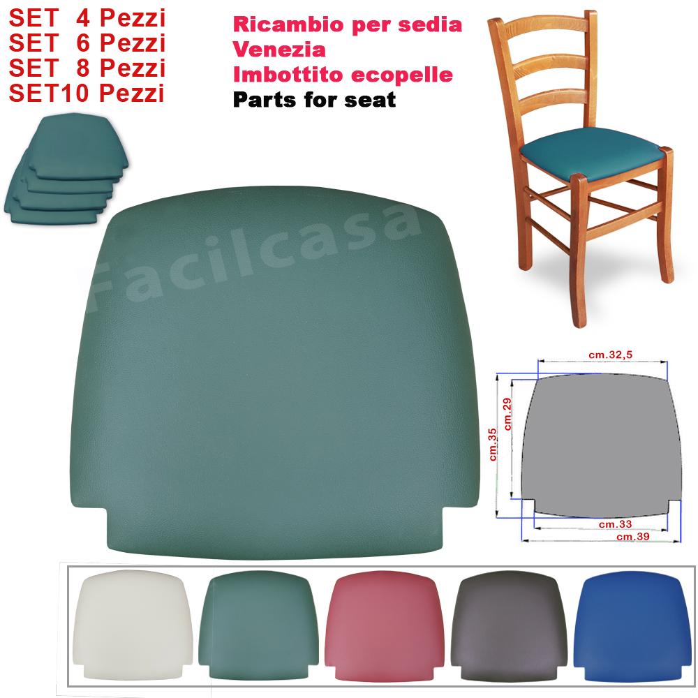 Ricambi sedute per sedie imbottite verde 6 seduta for Pelle per rivestimento sedie