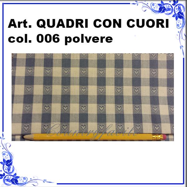 CAMPIONARIO ARLECCHINO : Quadri con cuori color polvere - Facilcasa