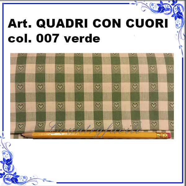 CAMPIONARIO ARLECCHINO : Quadri con cuori color verde - Facilcasa