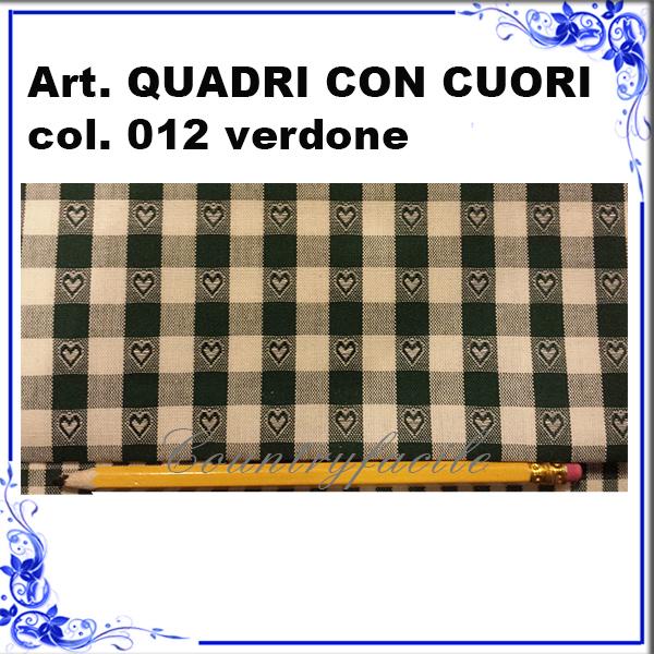 CAMPIONARIO ARLECCHINO : Quadri con cuori color verdone - Facilcasa