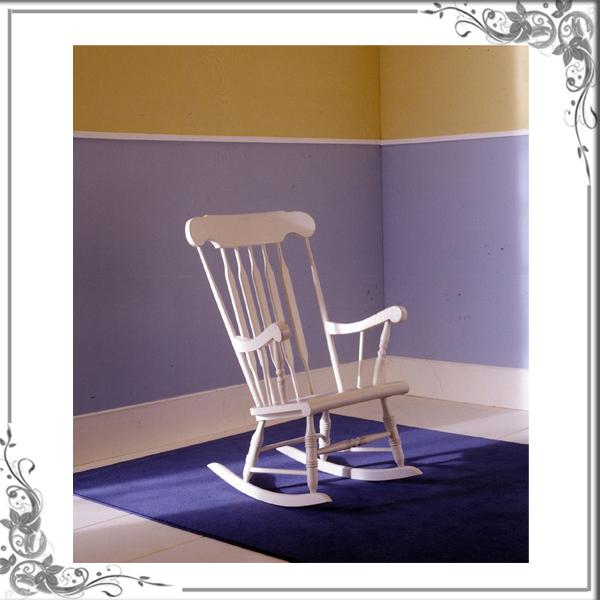 Sedie a dondolo sedia dondolo illinois shabby chic - Sedia a dondolo ...