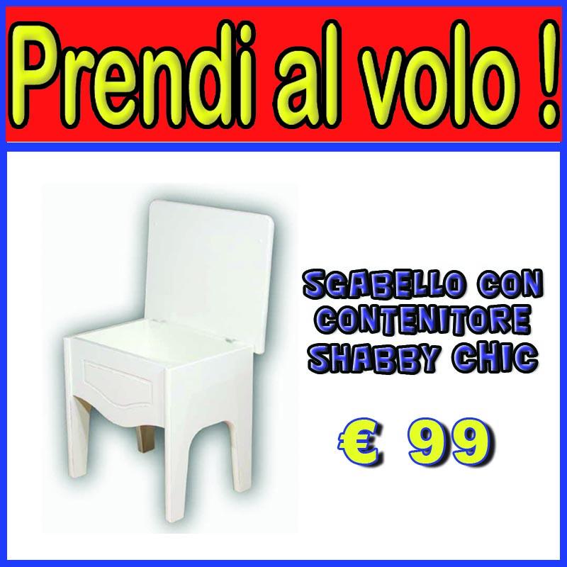 Mobili country sgabello contenitore shabby chic facilcasa - Sgabello contenitore bagno ...