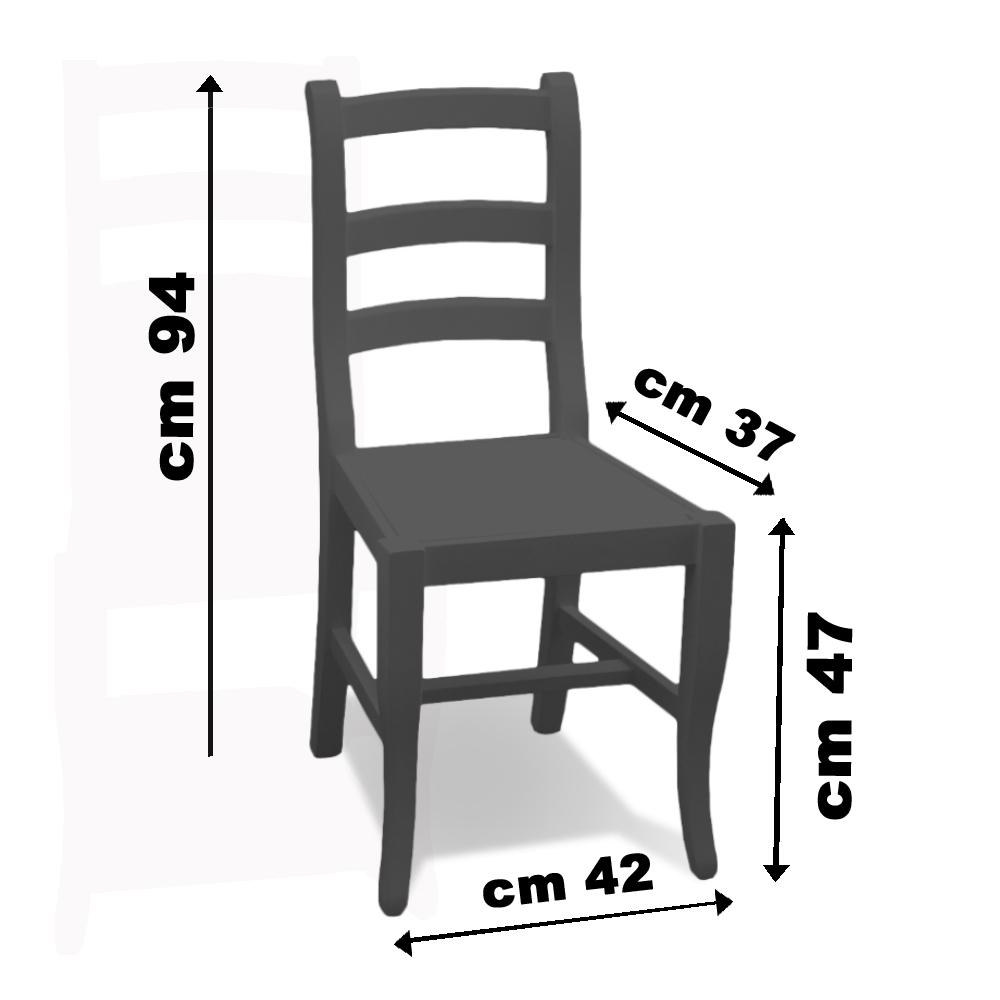 Sedie country sedia mod tiffany bianca 2 sedie for Sedia misure